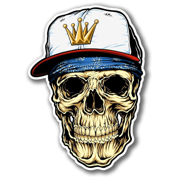 2 x Skull Snap Back Vinyl Sticker #4075