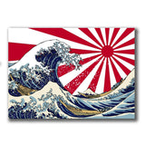 2 x Japanese Wave Sunrise Vinyl Sticker #4077