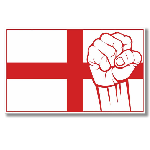 2 x England St George's Flag Vinyl Sticker #4078