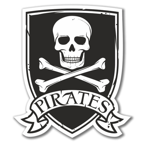 2 x Pirate Jolly Roger Vinyl Sticker #4080