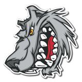 2 x Bad Wolf Dog Hound Scary Vinyl Sticker #4081