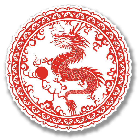 2 x Chinese Dragon Sticker Martial Arts Karate Vinyl Sticker #4085