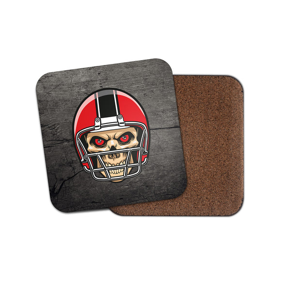 NFL Football Skull Cork Backed Drinks Coaster for Tea & Coffee #4090