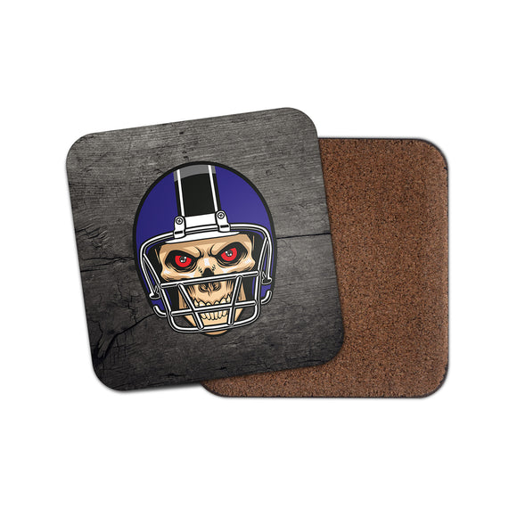 NFL Football Skull Cork Backed Drinks Coaster for Tea & Coffee #4091