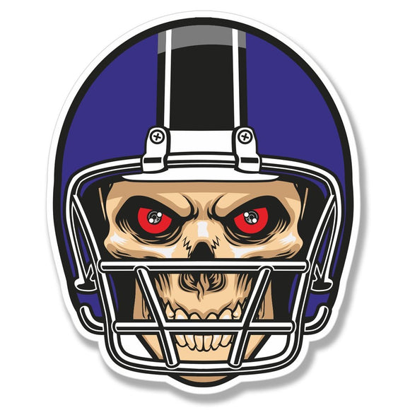 2 x NFL Football Skull Vinyl Sticker #4091