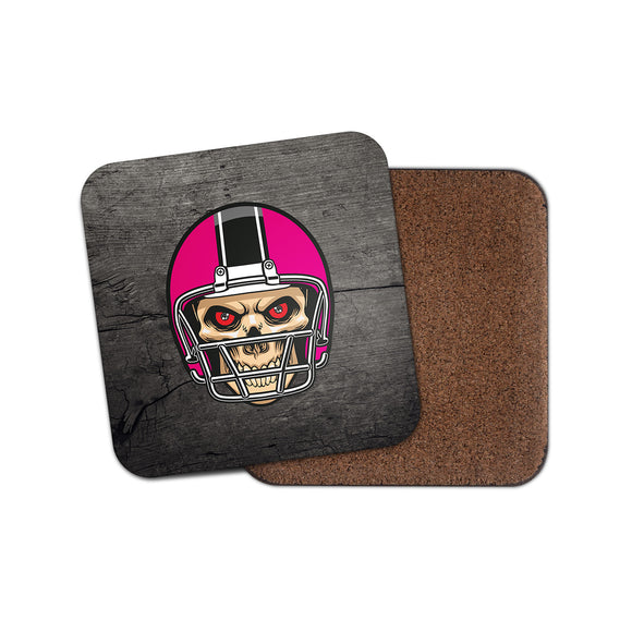 NFL Football Skull Cork Backed Drinks Coaster for Tea & Coffee #4092
