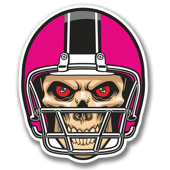 2 x NFL Football Skull Vinyl Sticker #4092