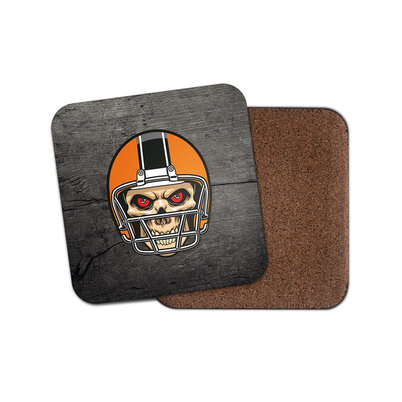 NFL Football Skull Cork Backed Drinks Coaster for Tea & Coffee #4093