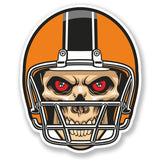 2 x NFL Football Skull Vinyl Sticker #4093
