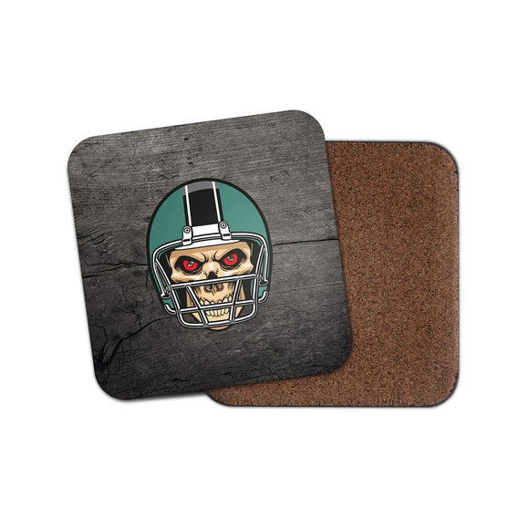 NFL Football Skull Cork Backed Drinks Coaster for Tea & Coffee #4094