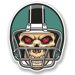 2 x NFL Football Skull Vinyl Sticker #4094