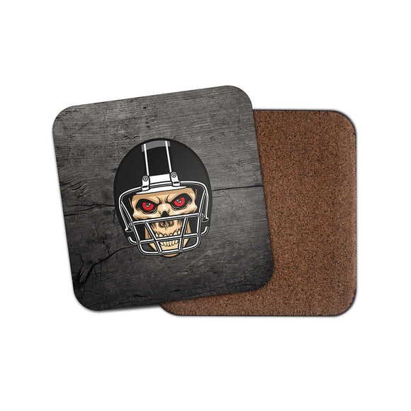 NFL Football Skull Cork Backed Drinks Coaster for Tea & Coffee #4095