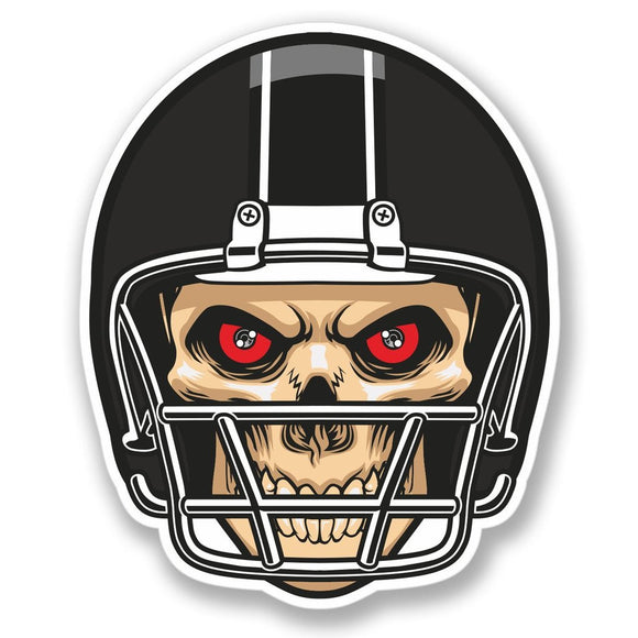 2 x NFL Football Skull Vinyl Sticker #4095