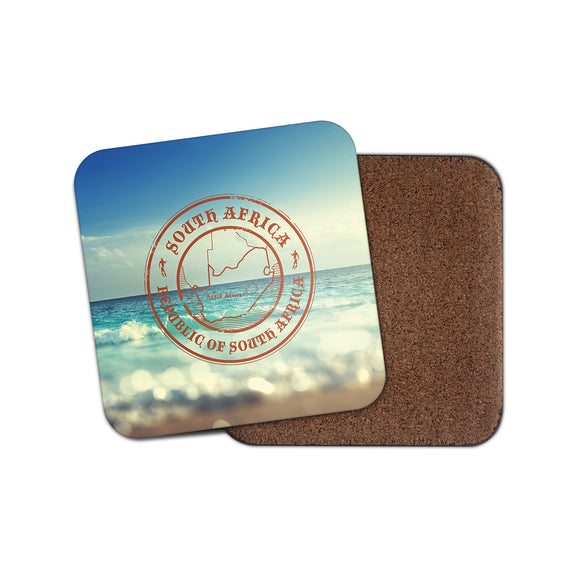 South Africa Cork Backed Drinks Coaster for Tea & Coffee #4096