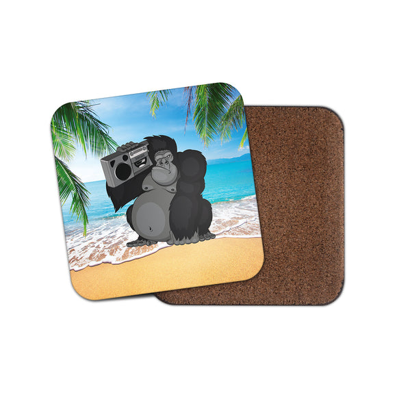 Gorilla Stereo DJ Cork Backed Drinks Coaster for Tea & Coffee #4097