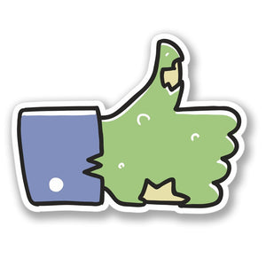 2 x Zombie Hand Sticker Facebook Vinyl Sticker #4099