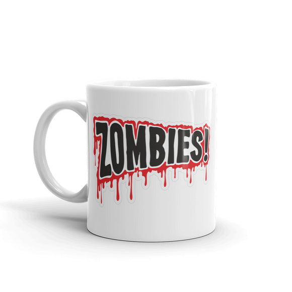 Zombie Warning Sign Blood Drip High Quality 10oz Coffee Tea Mug #4101