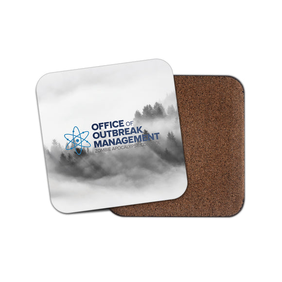 Zombie Outbreak Cork Backed Drinks Coaster for Tea & Coffee #4104