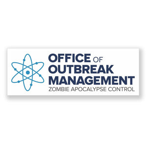 2 x Zombie Outbreak Management Vinyl Sticker #4104