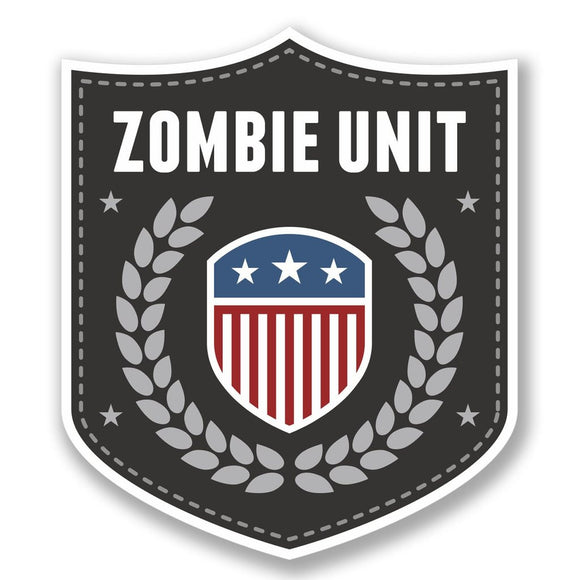 2 x Zombie Unit Badge Vinyl Sticker #4105