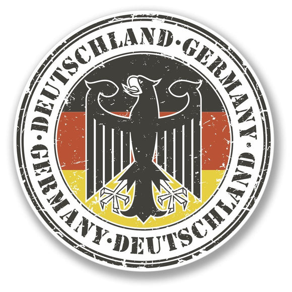 2 x Deutschland Germany German Vinyl Sticker #4107