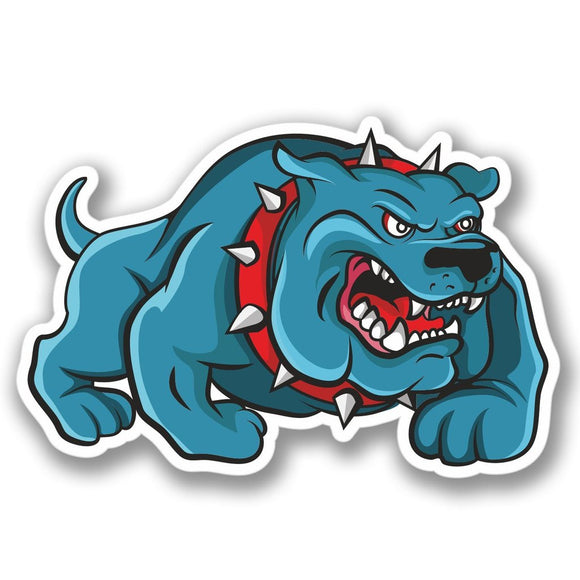 2 x Bulldog Angry Dog Vinyl Sticker #4108