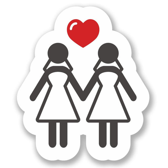 2 x Lesbian Gay Marriage Vinyl Sticker #4113
