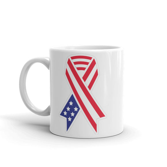 USA Flag Ribbon Army War Memorial High Quality 10oz Coffee Tea Mug #4118