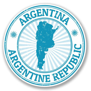2 x Argentina Luggage Vinyl Sticker #4120