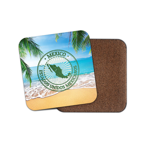 Mexico Cork Backed Drinks Coaster for Tea & Coffee #4121