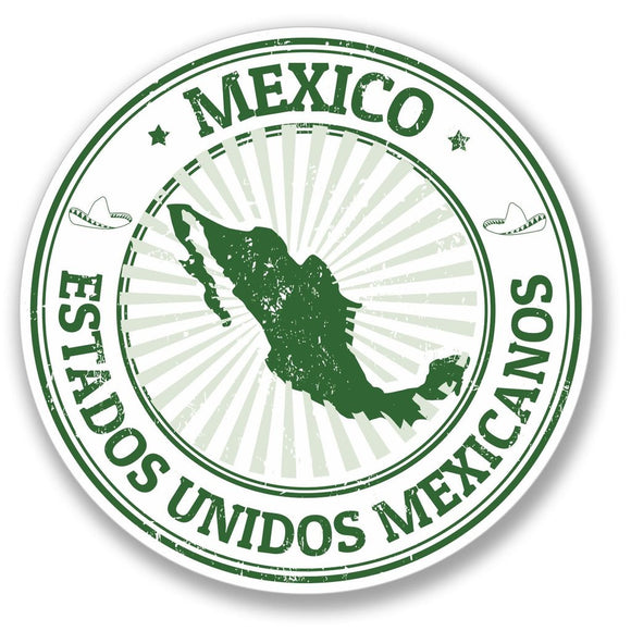 2 x Mexico Luggage Vinyl Sticker #4121