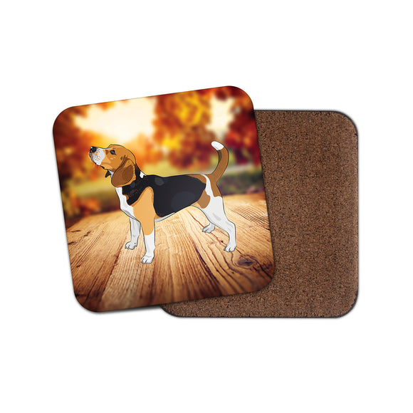 Beagle Dog Cork Backed Drinks Coaster for Tea & Coffee #4122