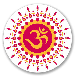 2 x OM Symbol Hindu Yoga Luggage Vinyl Sticker #4123