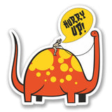 2 x Funny Dinosaur Luggage Vinyl Sticker #4128