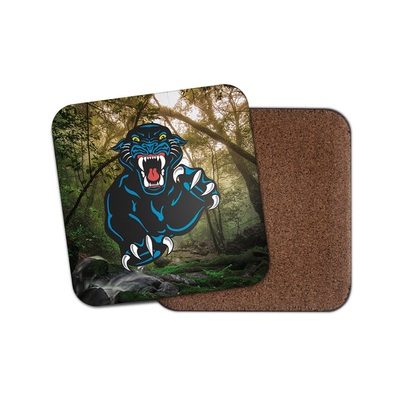 Black Panther Cork Backed Drinks Coaster for Tea & Coffee #4130
