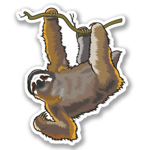 2 x Lazy Sloth Luggage Vinyl Sticker #4134