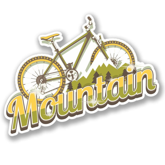 2 x Mountain Bike Luggage Vinyl Sticker #4135