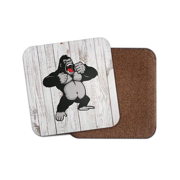 Angry Gorilla Cork Backed Drinks Coaster for Tea & Coffee #4136
