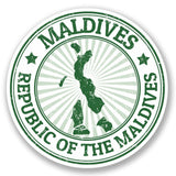 2 x Maldives Luggage Vinyl Sticker #4137