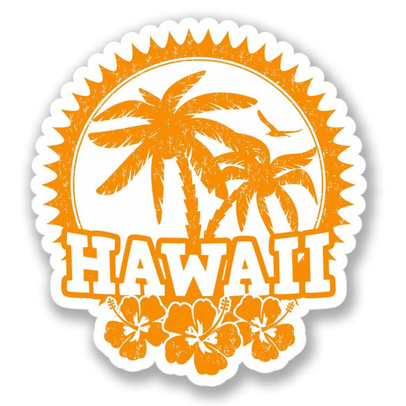 2 x Hawaii Luggage Vinyl Sticker #4140