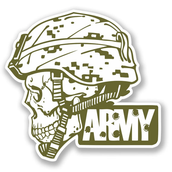 2 x Army Luggage Vinyl Sticker #4144