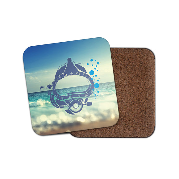 Scuba Diver Cork Backed Drinks Coaster for Tea & Coffee #4146