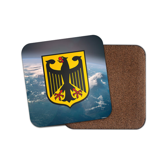 Coat of Arms German Eagle Cork Backed Drinks Coaster for Tea & Coffee #4147