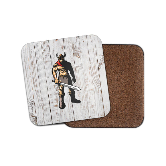 Viking Warrior Cork Backed Drinks Coaster for Tea & Coffee #4150