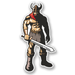 2 x Viking Warrior Vinyl Sticker #4150