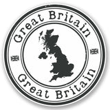 2 x GB Great Britain UK Vinyl Sticker #4153
