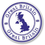 2 x GB Great Britain UK Vinyl Sticker #4154