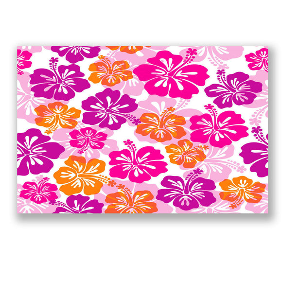 1 x A4 Sheet Hibiscus Hawaii Flower StickerBomb Sticker Bomb Car Bike iPad #4156