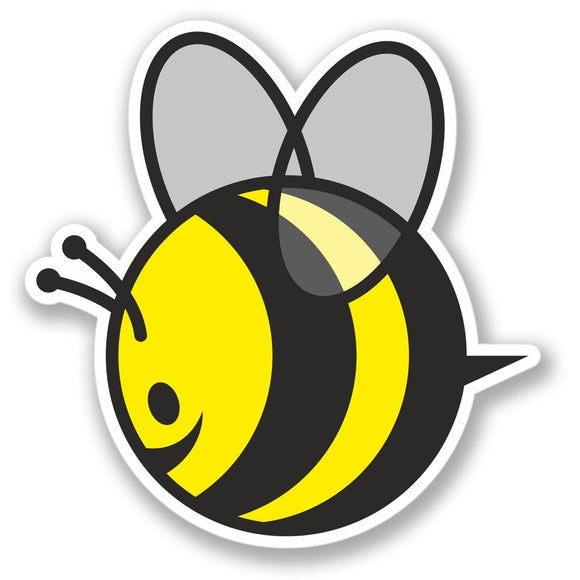 2 x Happy Honey Bee Vinyl Sticker #4160