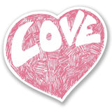 2 x Cute Love Heart Vinyl Sticker #4163